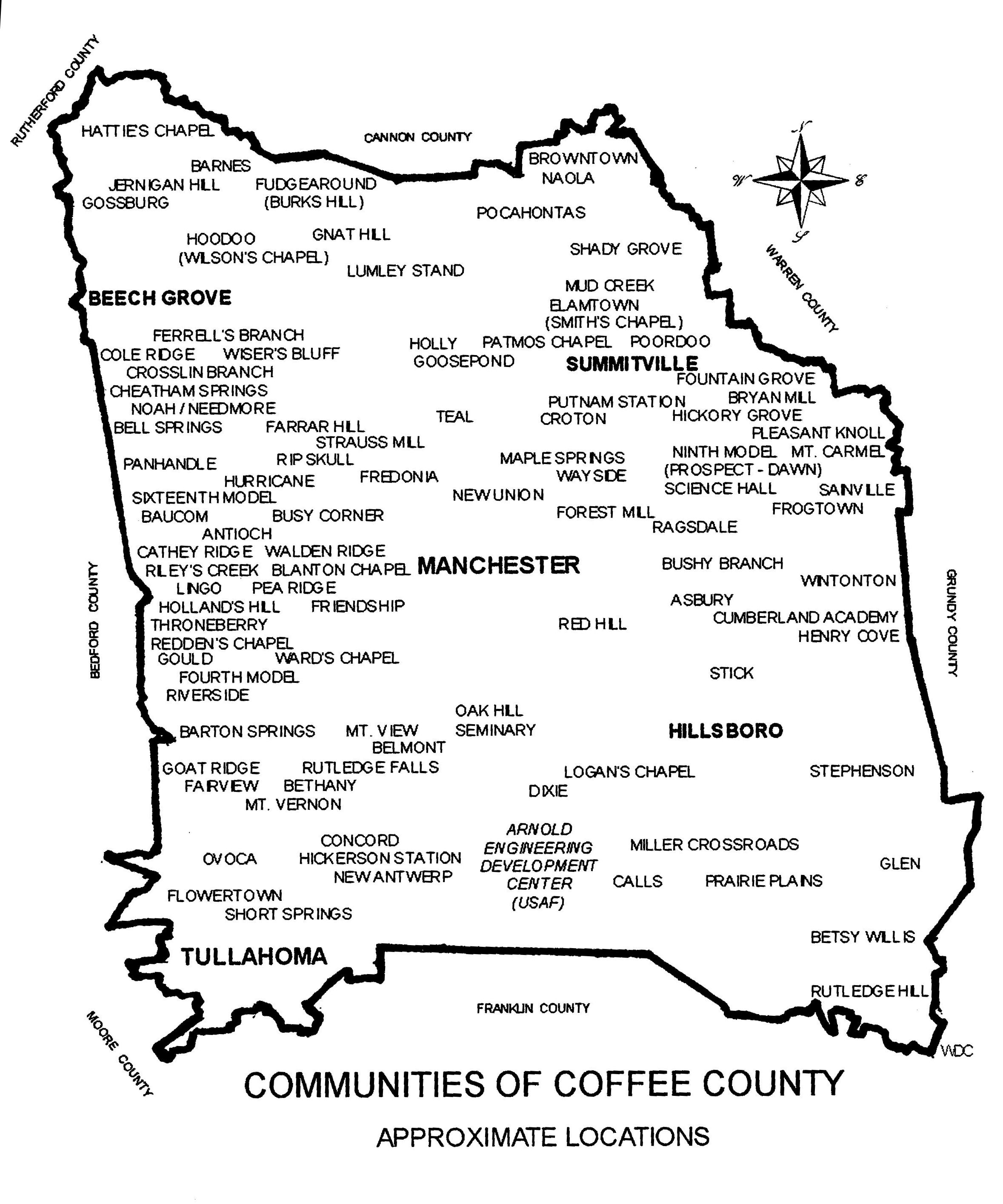 Tennessee coffee county hillsboro - Coffee County Tennessee Communities Showing Stick